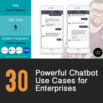 Top 30 chatbot use cases ebook