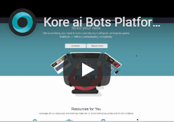 Kore.ai bot platform video